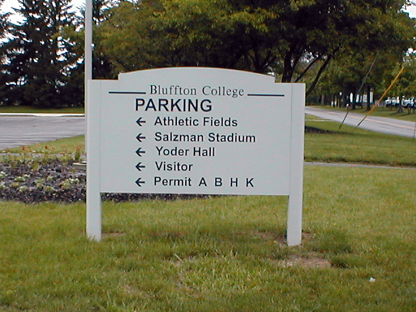 Post & Panel Sign example